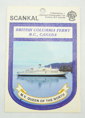 B.C. Ferry - M.V. Queen of The North Souvenir Decal Self-Adhesive Sticker