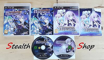 Ps3 Hyperdimension Neptunia 1 + mk2 - Nis America Playstation 3 PAL IT