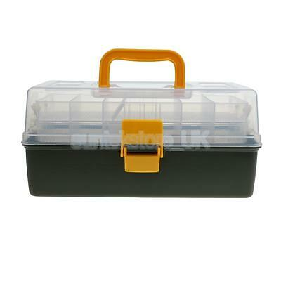 Clear 2 Tray Cantilever Fishing Tackle Box Waterproof Fishing Lure Organizer