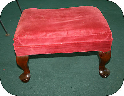 Vintage / Antique Queen Anne Style Foot Stool / Rest