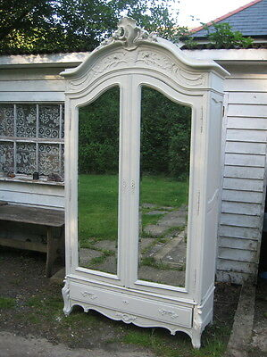 Vintage Antique French Large Armoire ,Wadrobe,Louis xv ,painted ,stunning