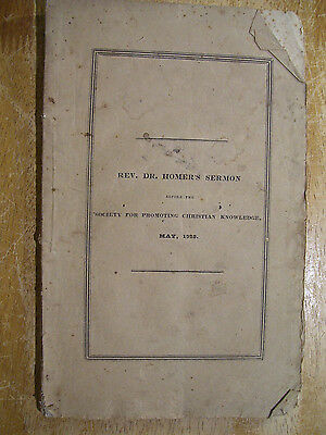 1828 Newton MA Sermon Dr. Homer Society For Promoting Christian Knowledge