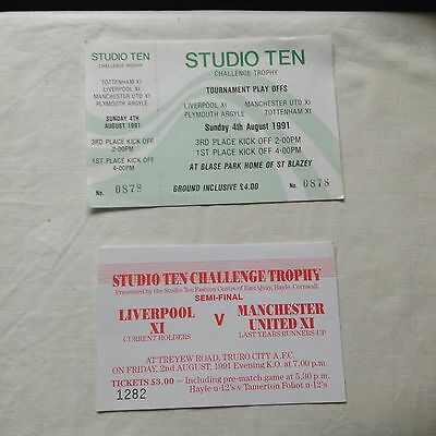 MANCHESTER UNITED TICKETS:- STUDIO 10 TROPHY.  UNITED Res. & OTHERS. 1991