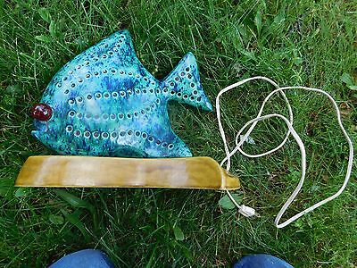 Awesome Retro Ceramic Angelfish Lamp Great Look  Mid-Century