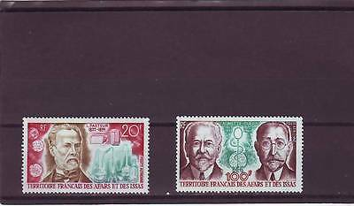 a121 - FRENCH TERR AFARS & ISSAS - SG582-583 MNH 1972 FAMOUS MEDICAL SCIENTISTS