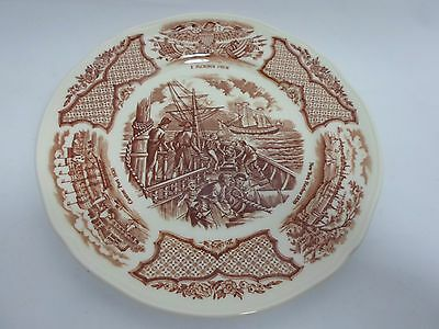 "Fair Winds Alfred Meakin 7""  saucers plate Navy Ship USS Constitution Lot of 3"