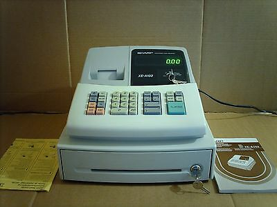 SHARP XE-A102 Electronic Cash Register with Keys & Instructions