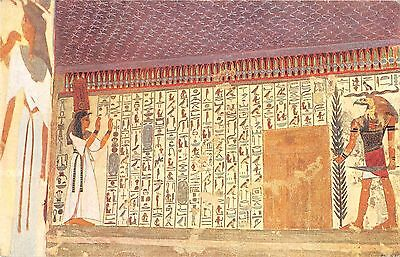 BR102379 thebes tomb queen nefertari book of dead painting postcard africa egypt