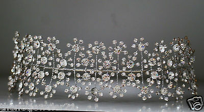 Headband Prom Bridal Pageant Sterling Silver 925