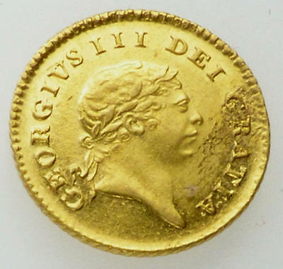 1809 EF George III Great Britain Gold Third Guinea Coin
