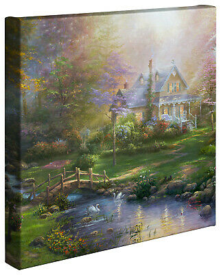 Thomas Kinkade A Mother's Perfect Day 14 x 14 Gallery Wrap Canvas
