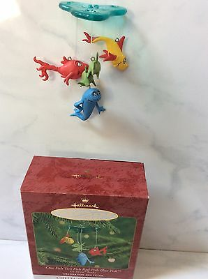 Hallmark 2000 Dr. Seuss Books 2nd One Fish Two Fish Red Fish Blue Fish Ornament