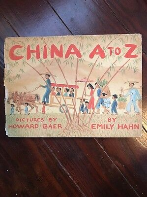 1946 China A to Z Children's Book Emily Hahn Howard Baer RARE