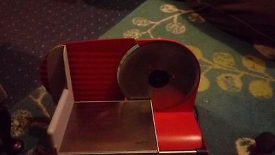 caterline industrial meat slicer red & silver electric