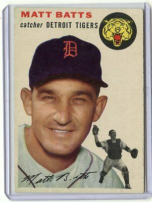 1954 Topps Baseball #88 Matt Batts, Detroit Tigers (B) 062017