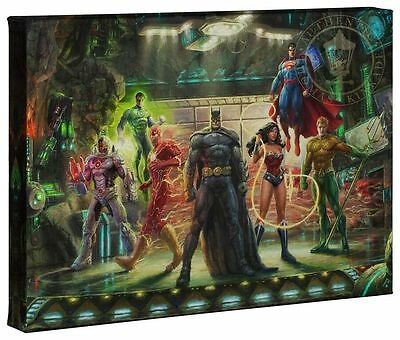 Thomas Kinkade Studios DC The Justice League 10 x 14 Gallery Wrap Canvas