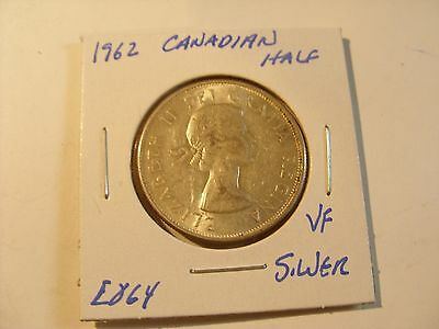 Very nice 1962 Canadian Silver Beauty Half Dollar Check out the pictures (E864)