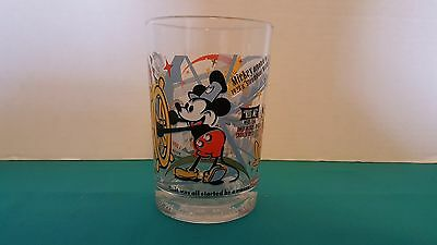 McDonald's 100 Years of Disney Magic Promotional Mickey Mouse Glass