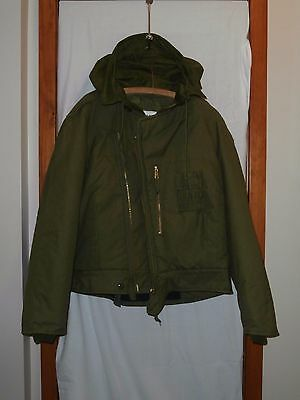 New Canadian Forces Combat Vehicle Crew CW Winter Jacket Size L/XL 7046 OD Green