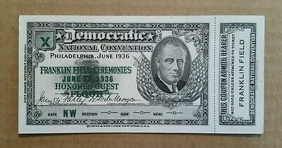 Democratic National Convention,Philadelphia,Pa.,Full Ticket,June 27,1936
