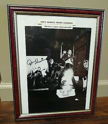 Paul McCartney 1972 WINGS OVER EUROPE Concert Tour Program Signed by Denny Laine