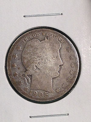 1905-S Silver Barber Quarter Dollar, Semi Key date