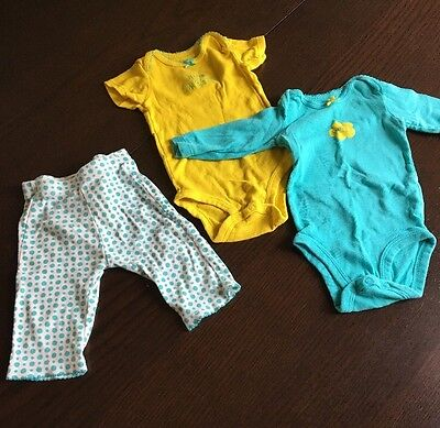 Carters Baby Girl Short Sleeve  Sleeve And Pants Set Size 3 Months