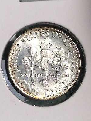 1963D Usa 10 Cents Dime Silver Uncirculated!