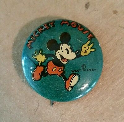 Mickey Mouse Pinback,1920's-30's