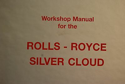 "Rolls Royce Cloud 1,2,3, Bently S1,2,3 Workshop Manual ""not Reproduction"" ""look"""