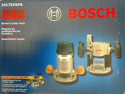 Bosch 1617EVSPK 12 Amp 2-1/4-HP Plunge and Fixed Base Variable Speed Router Kit
