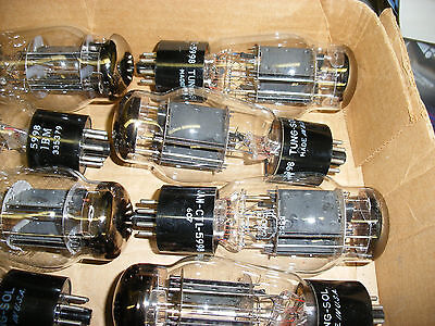 Tung Sol 5998 Twin Power Output Tube For Otl Amplifiers - One Pair (2  Piece)