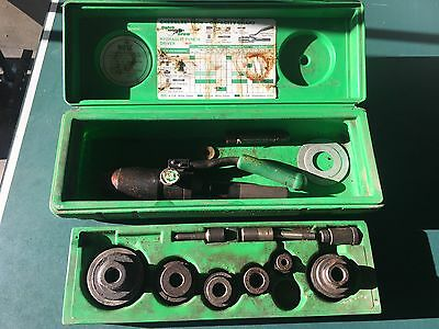 Greenlee 7804 Hydraulic Speed Punch Driver Knockout Punch Set