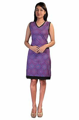 Tattopani Women's Summer Sleeveless Dress With Floral Pattern