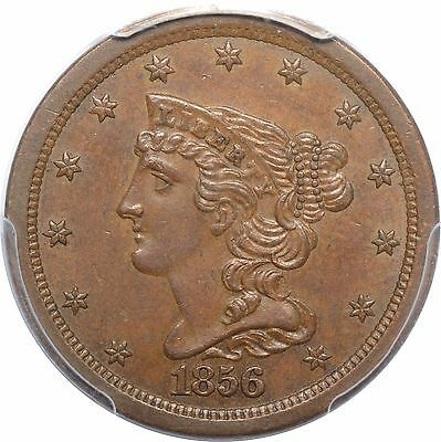1856 Braided Hair Half Cent - PCGS(CAC) MS62 - Nice Color