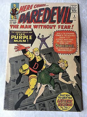 Daredevil #4 Silver Age Comic - Not Graded - likely a 4.0 to 4.5