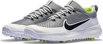 Nike FI Premier Mens Golf Shoes White Silver Black Volt 835421 001