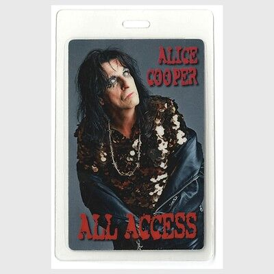 Alice Cooper authentic concert tour Laminated Backstage All Access Pass