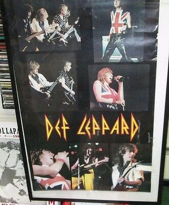 Def Leppard Poster Death Original New  Late 80's Heavy Metal