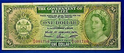 Belize BANKNOTE 1 Dollar , YEAR 1976 Pick# 33c Nice Circulated Note