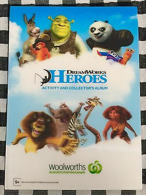 Woolworths DreamWorks Heroes Activity & Collectors Album With Full Set Of Cards