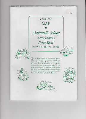 Vintage Map of Manitoulin Island from Turners Little Current
