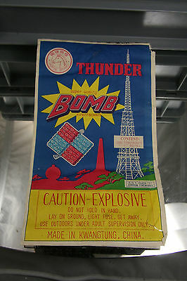 Thunderbomb Firecracker Label Horse Brand Full Brick 1280 Firework Label Vintage
