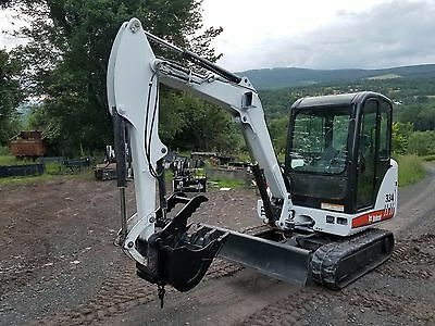 Bobcat 334G Excavator Cab A/c Hydraulic Thumb Nice!  Ready 2 Work In Pa! We Ship