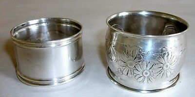 2 Sterling Silver Napkin Rings Webster & EP Co.