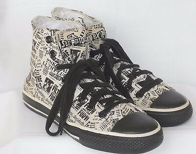 RARE DRAVEN SEX PISTOLS HIGH TOP PUNK ROCK SNEAKERS THE FILTH AND THE FURY Sz 8