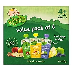 Rafferty's Garden Smooth Baby Food Multi Pack (4M+) 120g X 6