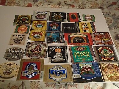 Lot Of (25) Diff Usa Micro Beer Labels -Mint