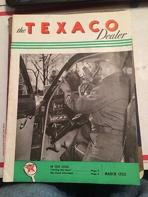 The texaco Dealer  magazine March 1952 excellent condition Great Graphics