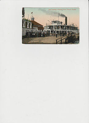 Vintage Post Card Ferry at Hanlons Point Toronto Islands